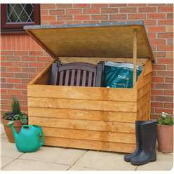 4ft x 3ft Overlap Storage Chest - Assembled (126cm x 86cm)