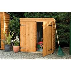 5ft x 3ft Overlap Pent Mower Shed - Assembled (143cm x 93cm)