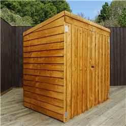 INSTALLED - 4' 8 x 3 Value Wooden Overlap Pent Mower Shed with Double Doors - INCLUDES INSTALLATION
