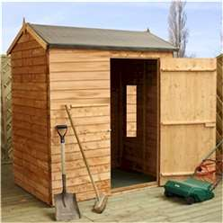 INSTALLED 4 x 6 Windowless Value Reverse Overlap Apex Shed Single Door (10mm Solid OSB Floor) - INCLUDES INSTALLATION