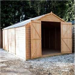 INSTALLED 15ft x 10ft Windowless Value Overlap Apex Workshop (10mm Solid OSB Floor) INCLUDES INSTALLATION