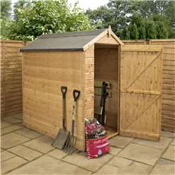 INSTALLED 6 x 4 Windowless Tongue and Groove Apex Wooden Shed with Single Door (10mm Solid OSB Floor) - INCLUDES INSTALLATION