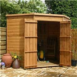 INSTALLED 7 x 7 Windowless Tongue And Groove Wooden Corner Shed with Double Doors (10mm Solid OSB Floor)  - INCLUDES INSTALLATION