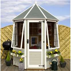 INSTALLED 6 x 6 Premier Wooden Octagonal Garden Summerhouse (12mm Tongue and Groove Floor) - INCLUDES INSTALLATION