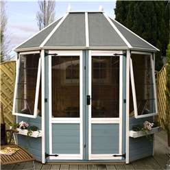 INSTALLED 8 x 6 Premier Wooden Octagonal Garden Summerhouse (12mm Tongue and Groove Floor) - INCLUDES INSTALLATION