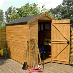 INSTALLED 7 x 5 Windowless Premier Tongue and Groove Apex Wooden Garden Shed Single Door (12mm Tongue and Groove Floor) - INCLUDES INSTALLATION