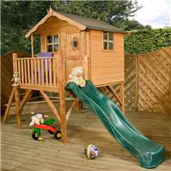 INSTALLED Tower Playhouse and Slide 5ft x 7ft - INCLUDES INSTALLATION