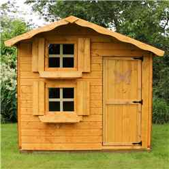 INSTALLED Cottage Playhouse - Double Storey - 7ft x 5ft - INCLUDES INSTALLATION