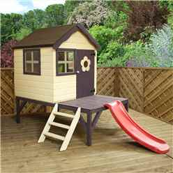 INSTALLED Tower + Slide Playhouse 4ft x 4ft - INCLUDES INSTALLATION