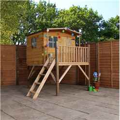 INSTALLED Apex Tower Playhouse 8ft x 7ft With Overhang - INCLUDES INSTALLATION