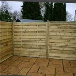 6FT Pressure Treated Horizontal Weave Fencing Panels - 1 Panel Only + Free Delivery*
