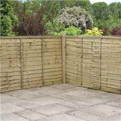 4FT Pressure Treated  Waney Edge Overlap Fencing Panels -1 Panel Only (Min Order 3 Panels) + Free Delivery*