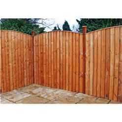 5FT Vertical Feather Edge Fencing (Curved) - 1 Panel Only (Min Order 3 Panels) + Free Delivery*