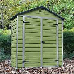 3 x 6 Plastic Apex Garden Shed (1.02m X 1.85m) *FREE 24/48 HOUR DELIVERY*