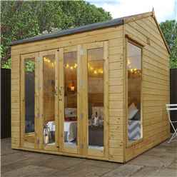 8 x 8 Vermont Reverse Tongue and Groove Summerhouse (12mm Tongue and Groove Floor)