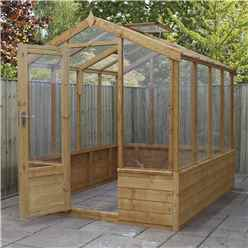 *NEW PRODUCT DUE MID MAY* INSTALLED 6 x 8 Premier Styrene Glazed Tongue and Groove Greenhouse (No Floor) INCLUDES INSTALLATION