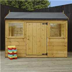 "4' 5"" x 6 Reverse Tongue and Groove Playhouse (10mm Solid OSB Floor & Roof)"