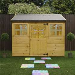 """INSTALLED 5' 5"""" x 6' Reverse Cottage Playhouse (10mm Solid OSB Floor & Roof) INCLUDES INSTALLATION"""