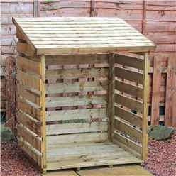 "**PRE-ORDER NEW PRODUCT DUE END OF MARCH**3 x 4 Pressure Treated Single Log Store (2'8"" x 3'6"")"