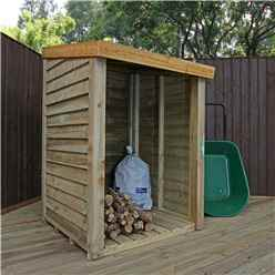 3 x 3 Pressure Treated Overlap Storage Unit (3'3 x 3'3)