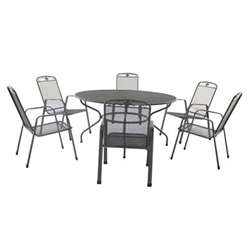 6 Seater - 7 Piece -Savoy  Round Dining Set - 150cm Round Table & 6 Stacking Savoy Chairs - Free Next Working Day Delivery (Mon-Fri)