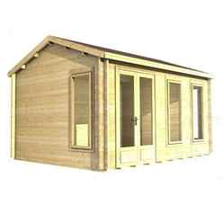 3.5m x 3.5m (12ft x 12ft) Log Cabin (2039) - Double Glazing (34mm Wall Thickness)