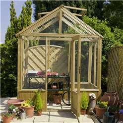 8ft x 6ft Wooden Pressure Treated Greenhouse