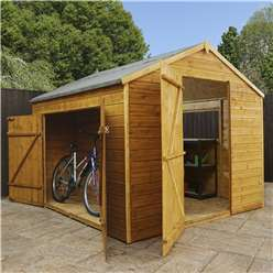 8ft x 8ft Deluxe Tongue and Groove Dutch Style Barn With 1 Window And Double Doors (12mm Tongue and Groove Floor and Roof) - 48HR + SAT Delivery*