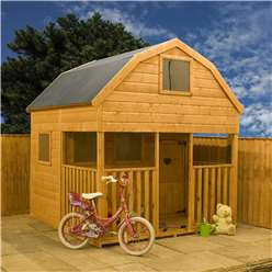 Barn Double Storey Playhouse 7ft x 7ft