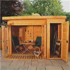 10ft x 8ft Contempory Gardenroom Large Combi (12mm Tongue and Groove Floor and Roof) - 48HR + SAT Delivery*