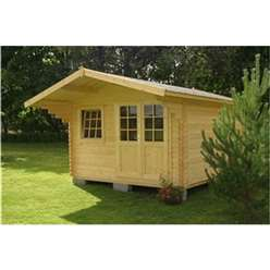 4m x 4m LARSEN TRADITIONAL Log Cabin - 44mm Wall Thickness