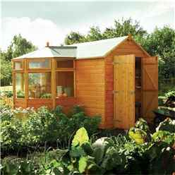10ft x 10ft Deluxe Corner Potting Tongue and Groove Shed (12mm Tongue and Groove Floor)