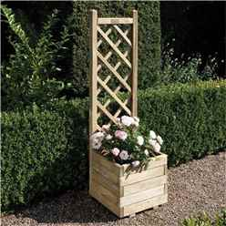 Deluxe Square Planter and Lattice