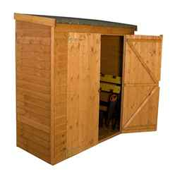 6 x 2'6 Overlap Value Wooden Pent Storage Wooden Garden Shed with Double Doors (10mm Solid OSB Floor) - 48HR + SAT Delivery*