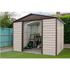 "9'4"" x 12' Shiplap Apex Metal Shed + Free Anchor Kit (2.85m x 3.67m)"