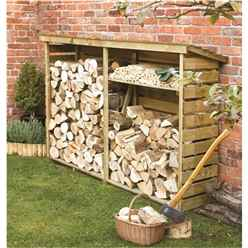 8ft x 2ft (2.29m x 0.56m) Deluxe Large Log Store