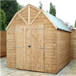 10ft x 8ft Windowless Deluxe Tongue and Groove Wooden Garden Dutch Barn (12mm Tongue and Groove Floor and Roof) ***extended Delivery Typically 14 Working Days As Treated As Special