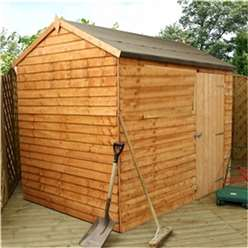 6ft x 8ft Value Windowless Reverse Overlap Apex Shed Single Door (10mm Solid OSB Floor) ***extended Delivery Typically 14 Working Days As Treated As Special - Please See Product Page For More Info