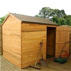 6ft x 8ft Windowless Tongue And Groove Reverse Apex Wooden Shed (10mm Solid OSB Floor) ***extended Delivery Typically 10 Working Days As Treated As Special - Please See Product Page For More Info