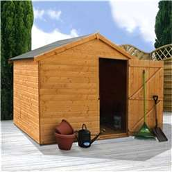 6 x 8 Windowless Tongue And Groove Single Door Reverse Apex Wooden Shed (10mm Solid OSB Floor) ***extended Delivery Typically 14 Working Days As Treated As Special