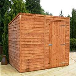 8 x 6 Windowless Value Overlap Pent Shed with Single Door (solid 10mm OSB Floor) ***extended Delivery Typically 14 Working Days As Treated As Special - Please See Product Page For More Info