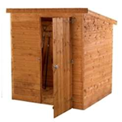 6 x 4 Windowless Tongue and Groove Pent Wooden Shed (10mm Solid OSB Floor) ***extended Delivery Typically 14 Working Days As Treated As Special - Please See Product Page For More Info