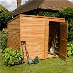 8 x 6 Windowless Tongue and Groove Pent Garden Shed with Single Door (solid 10mm OSB Floor) ***extended Delivery Typically 14 Working Days As Treated As Special