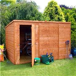 10 x 6 Windowless Tongue and Groove Pent Garden Shed with Single Door (10mm Solid OSB Floor) ***extended Delivery Typically 14 Working Days As Treated As Special