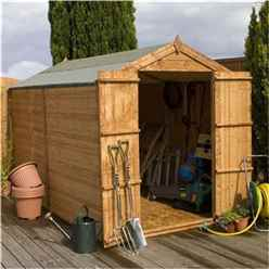 10ft x 6ft Windowless Value Overlap Apex Shed With Double Doors (10mm Solid OSB Floor)