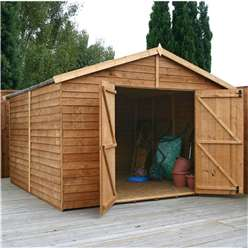 10ft x 10ft Windowless Value Overlap Apex Workshop (10mm Solid OSB Floor) ***extended Delivery Typically 14 Working Days As Treated As Special - Please See Product Page For More Info