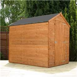 7 x 5 Windowless Tongue and Groove Apex Wooden Garden Shed with Single Door (10mm Solid OSB Floor) ***extended Delivery Typically 14 Working Days As Treated As Special