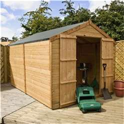 10ft x 8ft Windowless Tongue and Groove Apex Wooden Garden  Shed With Double Doors (10mm Solid OSB Floor) ***extended Delivery Typically 14 Working Days As Treated As Special