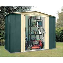 8ft x 5ft Deluxe Eight Metal Shed (2.45m x 1.54m)