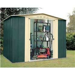 8ft x 7ft Deluxe Eight Metal Shed (2.45m x 2.16m)